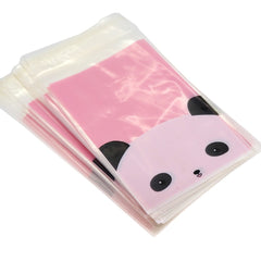 Cute Panda Cookie Candy party Gift Wrapping Bags Self-Adhesive, Pack of 95