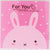 Pink Fat Rabbit Cookie Candy Sweet Party Gift Wrapping Packaging Bags, Pack of 95
