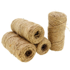 Natural Jute Twine for Gift Wrapping Packaging, Wholesale Lot of 4 Rolls 100 feet