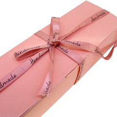 Handmade' Ribbon for Gift Wrapping, Pink color, 10mm Wide, 22 meter Long