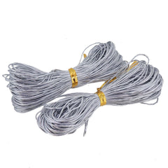 Metallic Silver Non-Stretch Cord for Gift Wrapping, 2 set, each set 22 meters