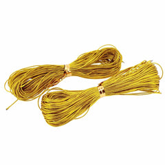 Metallic Golden Non-Stretch Cord for Gift Wrapping, 2 set, each set 22 meters