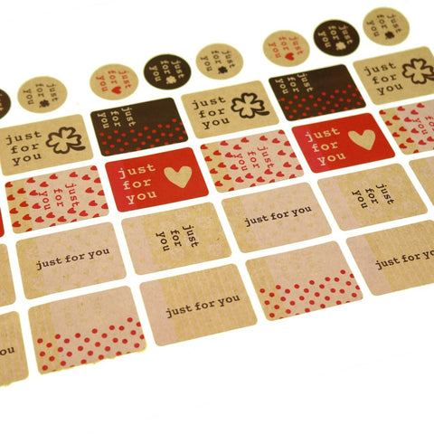 Just for You Sticker for Gift Wrapping, 132 Stickers, Great for Card-Making / Home Baking