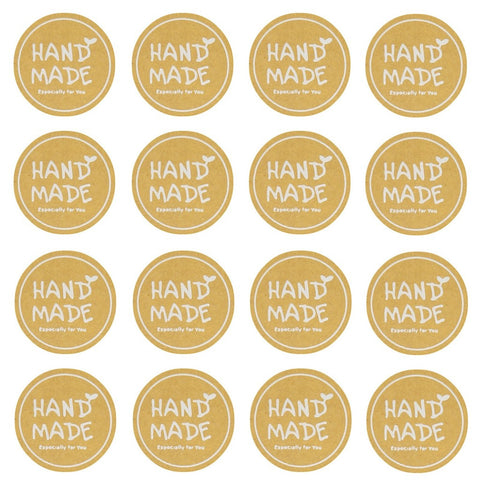 Hand Made Especially for You Kraft Round Sticker for Home Baking Gift Packaging, Pack of 120