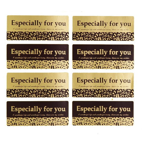 Leopard Print Especially for You Sticker for Gift Packaging, Pack of 80