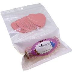 Heart Pink Paper Gift / Price Tags with Pink Twine for Gift Wrapping Packaging, Set of 48~50
