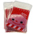 Snowman Christmas Cookie Candy Snack Party Favor Gift Bags, Pack of 95, Red Color