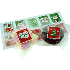 Lovely Christmas Stamp Stickers for Gift Wrapping or Scrapbook, Pack of 100 pcs