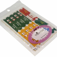 Santa Claus and Snowman Colorful Flag Stickers for Gift Wrapping or Scrapbook, Pack of 80 pcs