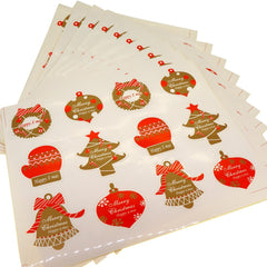 Christmas holiday element Sticker for Party Favors Gift Wrapping decoration , Pack of 120