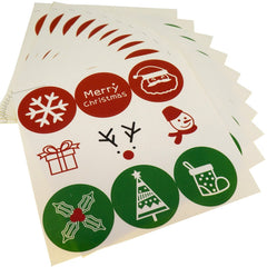 Christmas holiday Cute pattern Sticker for Party Favors Gift Wrapping decoration , Pack of 90