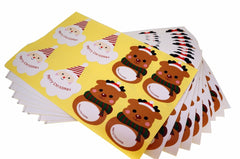 Santa Claus & Elk Christmas Stickers for Gift Packaging or Scrapbook, Pack of 80 pcs