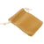 Pack of 100 Beige Color Soft Velvet Pouches w Drawstrings for Jewelry Gift Packaging, 5x7cm