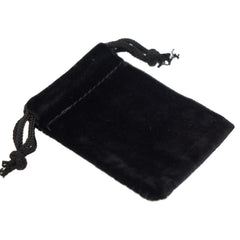 Pack of 100 Black Color Soft Velvet Pouches w Drawstrings for Jewelry Gift Packaging, 5x7cm