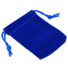 Pack of 100 Blue Color Soft Velvet Pouches w Drawstrings for Jewelry Gift Packaging, 5x7cm