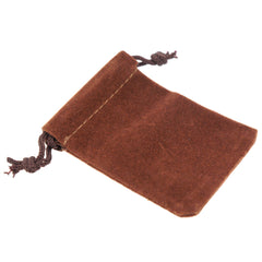 Pack of 12 Brown Color Soft Velvet Pouches w Drawstrings for Jewelry Gift Packaging, 5x7cm