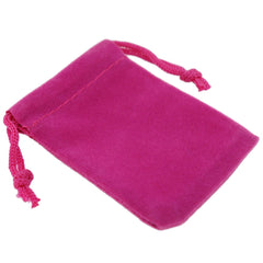 Pack of 12 Fuchsia Color Soft Velvet Pouches w Drawstrings for Jewelry Gift Packaging, 5x7cm