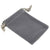 Pack of 100 Grey Color Soft Velvet Pouches w Drawstrings for Jewelry Gift Packaging, 5x7cm