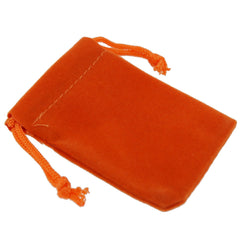 Pack of 12 Orange Color Soft Velvet Pouches w Drawstrings for Jewelry Gift Packaging, 5x7cm