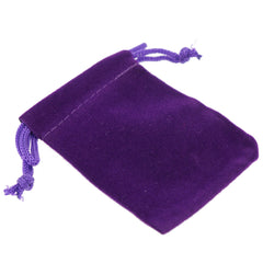 Pack of 100 Purple Color Soft Velvet Pouches w Drawstrings for Jewelry Gift Packaging, 5x7cm