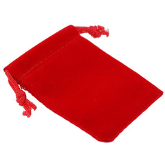 Pack of 100 Red Color Soft Velvet Pouches w Drawstrings for Jewelry Gift Packaging, 5x7cm