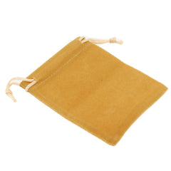 Pack of 100 Beige Color Soft Velvet Pouches w Drawstrings for Jewelry Gift Packaging, 7x9cm