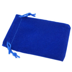 Pack of 100 Blue Color Soft Velvet Pouches w Drawstrings for Jewelry Gift Packaging, 7x9cm