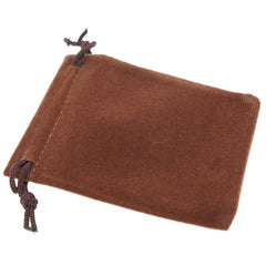 Pack of 100 Brown Color Soft Velvet Pouches w Drawstrings for Jewelry Gift Packaging, 7x9cm