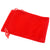 Pack of 12 Red Color Soft Velvet Pouches w Drawstrings for Jewelry Gift Packaging, 7x9cm