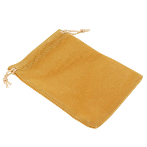 Pack of 12 Beige Color Soft Velvet Pouches w Drawstrings for Jewelry Gift Packaging, 9x12cm