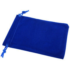 Pack of 50 Blue Color Soft Velvet Pouches w Drawstrings for Jewelry Gift Packaging, 9x12cm