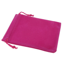 Pack of 12 Fuchsia Color Soft Velvet Pouches w Drawstrings for Jewelry Gift Packaging, 9x12cm