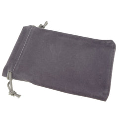 Pack of 12 Grey Color Soft Velvet Pouches w Drawstrings for Jewelry Gift Packaging, 9x12cm