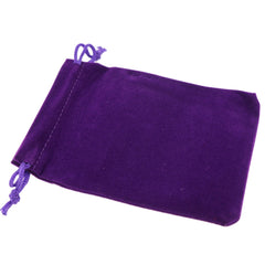 Pack of 50 Purple Color Soft Velvet Pouches w Drawstrings for Jewelry Gift Packaging, 9x12cm
