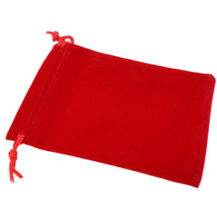 Pack of 12 Red Color Soft Velvet Pouches w Drawstrings for Jewelry Gift Packaging, 9x12cm