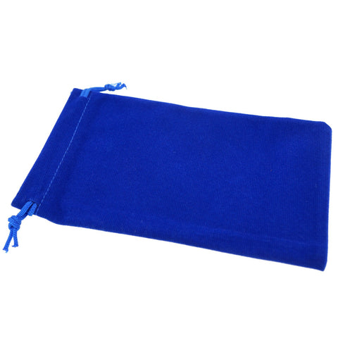 Pack of 50 Blue Color Soft Velvet Pouches w Drawstrings for Jewelry Gift Packaging, 10x16cm