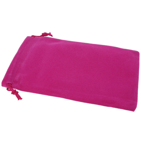 Pack of 50 Fuchsia Color Soft Velvet Pouches w Drawstrings for Jewelry Gift Packaging, 10x16cm