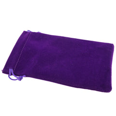 Pack of 12 Purple Color Soft Velvet Pouches w Drawstrings for Jewelry Gift Packaging, 10x16cm