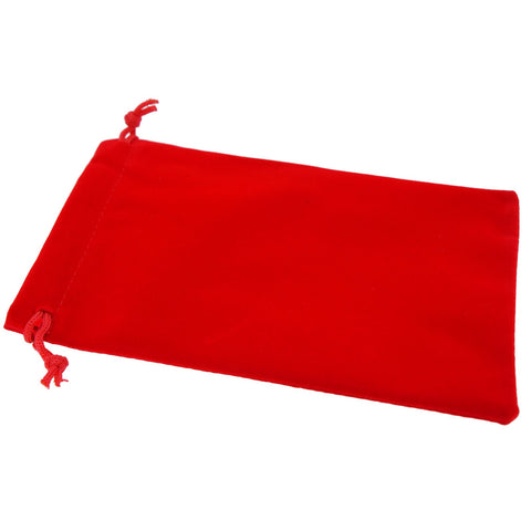 Pack of 12 Red Color Soft Velvet Pouches w Drawstrings for Jewelry Gift Packaging, 10x16cm