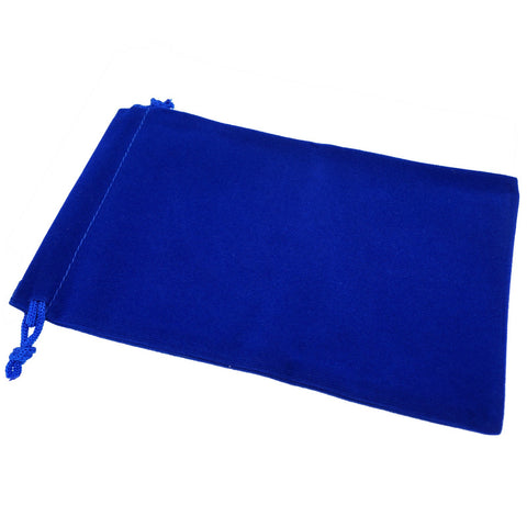 Pack of 12 Blue Color Soft Velvet Pouches w Drawstrings for Jewelry Gift Packaging, 12x18cm