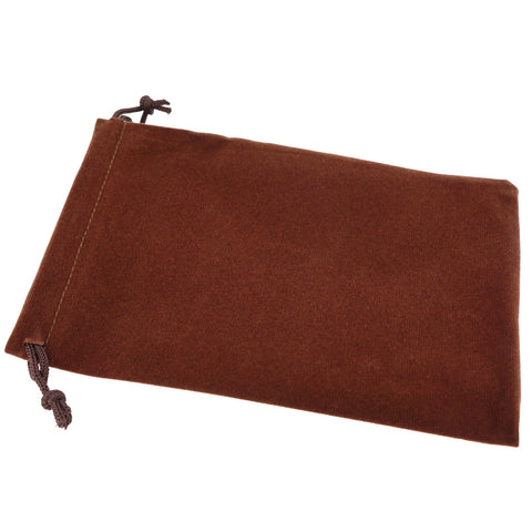 Pack of 12 Brown Color Soft Velvet Pouches w Drawstrings for Jewelry Gift Packaging, 12x18cm