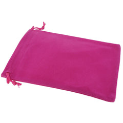 Pack of 50 Fuchsia Color Soft Velvet Pouches w Drawstrings for Jewelry Gift Packaging, 12x18cm