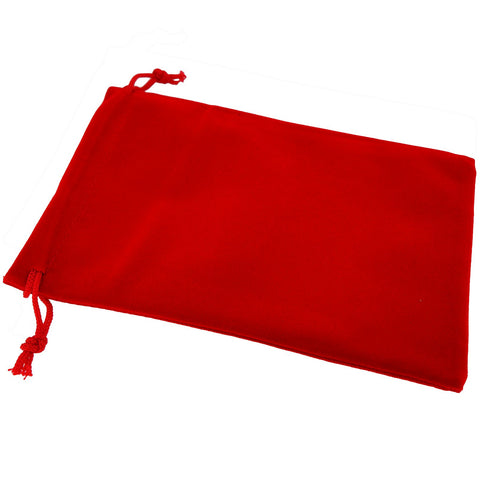 Pack of 12 Red Color Soft Velvet Pouches w Drawstrings for Jewelry Gift Packaging, 12x18cm