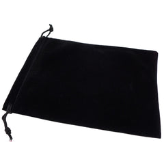 Pack of 12 Black Color Soft Velvet Pouches w Drawstrings for Jewelry Gift Packaging, 15x20cm