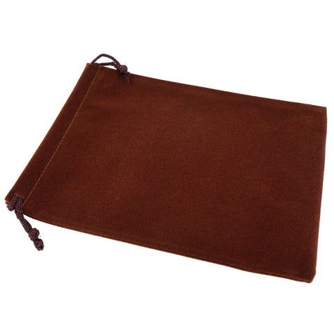 Pack of 50 Brown Color Soft Velvet Pouches w Drawstrings for Jewelry Gift Packaging, 15x20cm