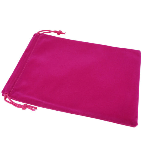 Pack of 12 Fuchsia Color Soft Velvet Pouches w Drawstrings for Jewelry Gift Packaging, 15x20cm