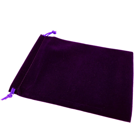 Pack of 50 Purple Color Soft Velvet Pouches w Drawstrings for Jewelry Gift Packaging, 15x20cm