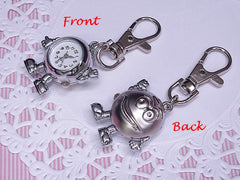 M & M PENDANT KEYCHAIN POCKET WATCHES CLOCKS