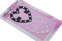 Pack of 2 Rhinestone Smart Perfect Bra Strap Clips Accessories (Heart)