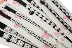 Clear Crystal Bead Fashion Black Bra Straps Lingerie Accessories